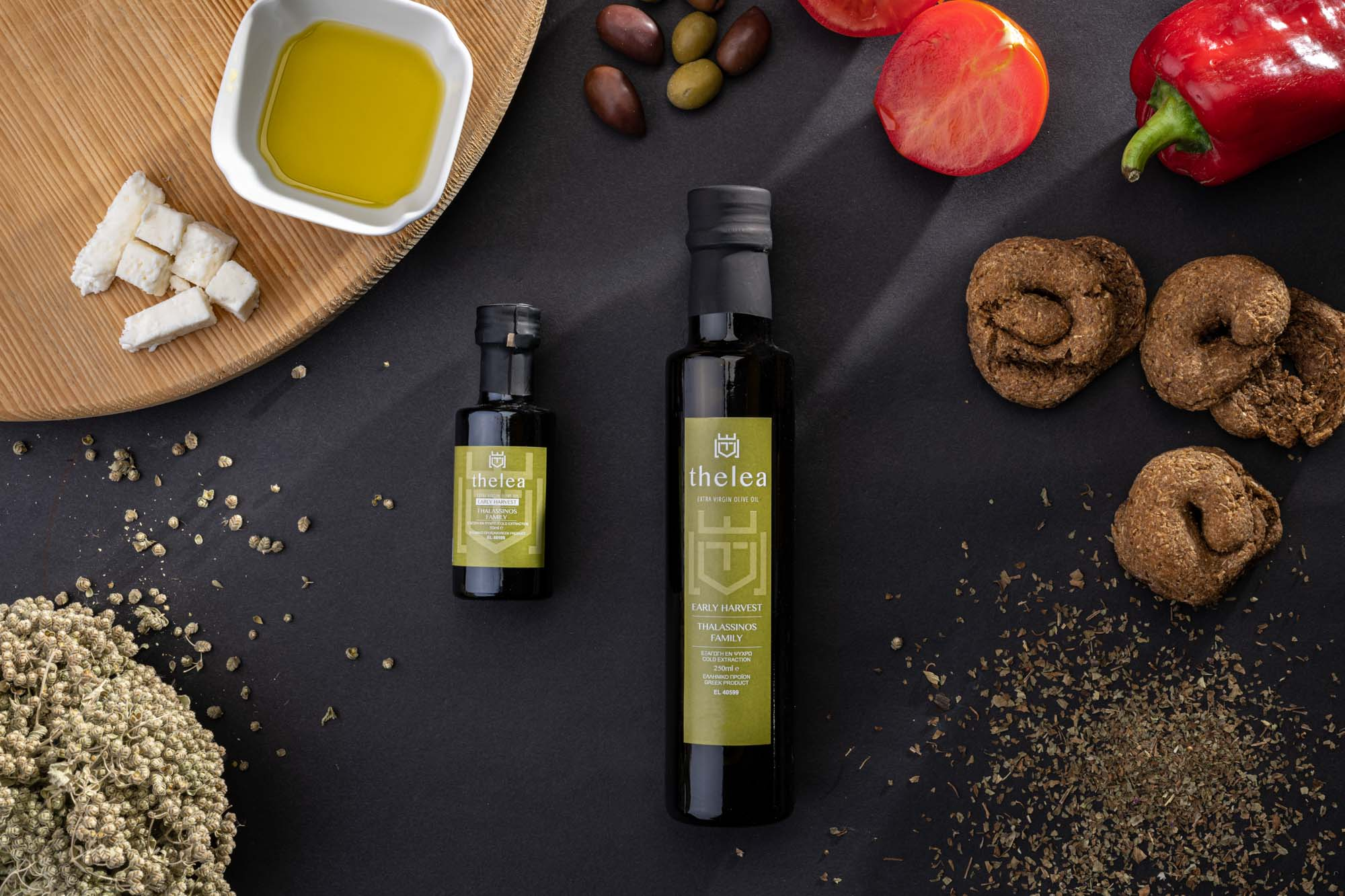 Thelea olive oil Early harvest 250ml & 50ml